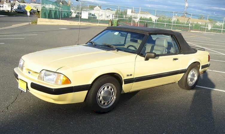 Tropical Yellow 1989 Mustang LX Convertible