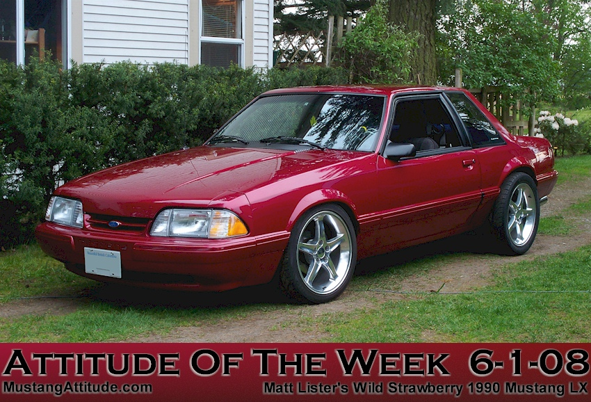 Wild Strawberry 1990 Mustang LX - Attitude Of The Week
