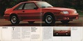 Bright Red 1990 Mustang GT hatchback