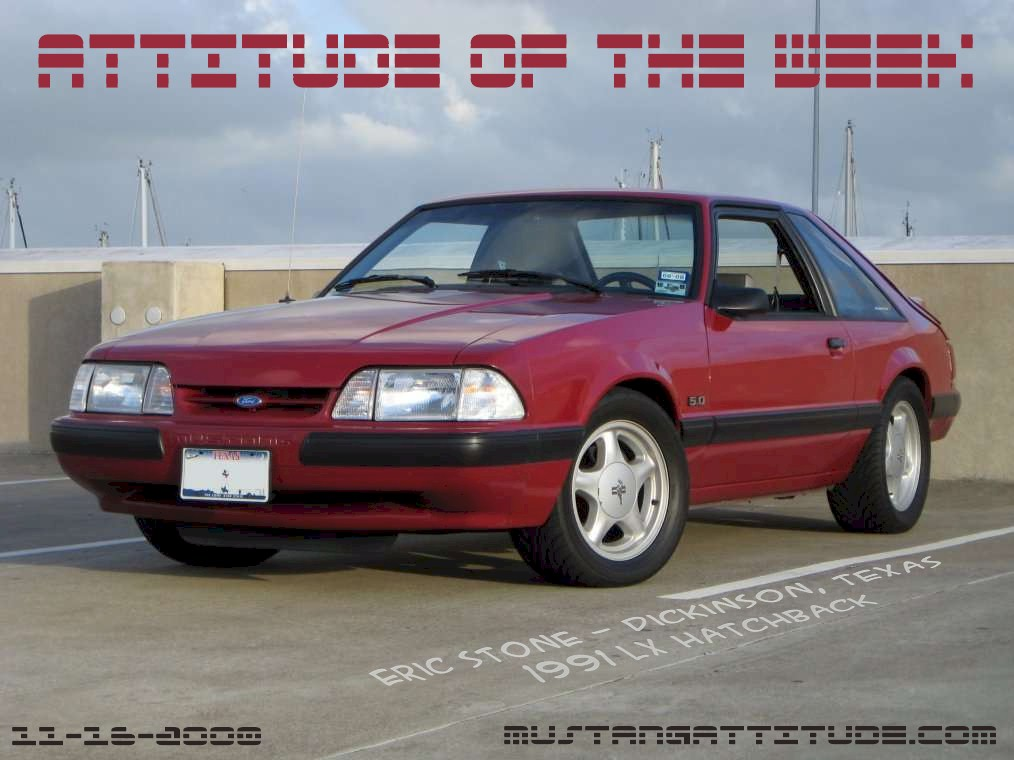 Medium Red 1991 Mustang LX Hatchback