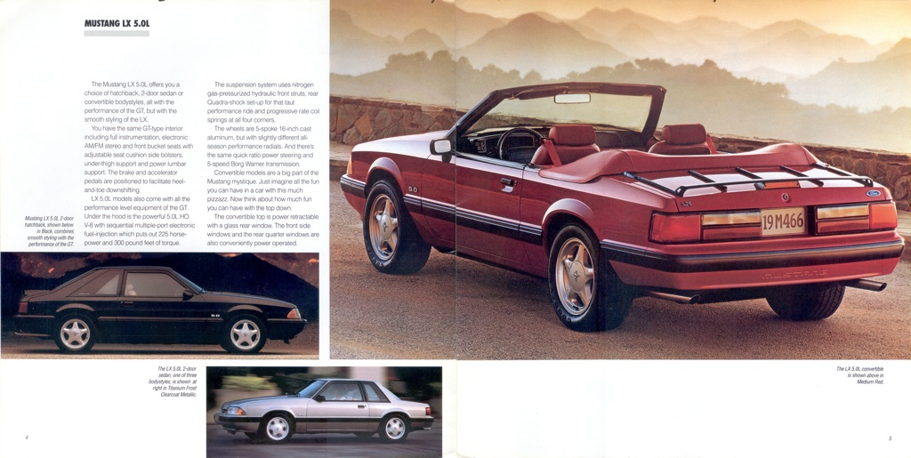 1991 Ford Mustang Promotional Booklet