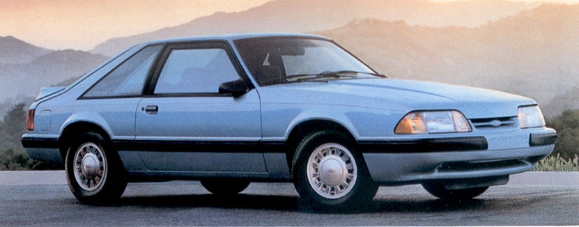 Light Crystal Blue 1991 Mustang LX Hatchback