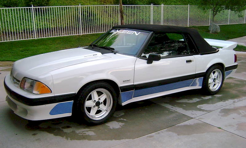 Oxford White 1991 Mustang Saleen convertible