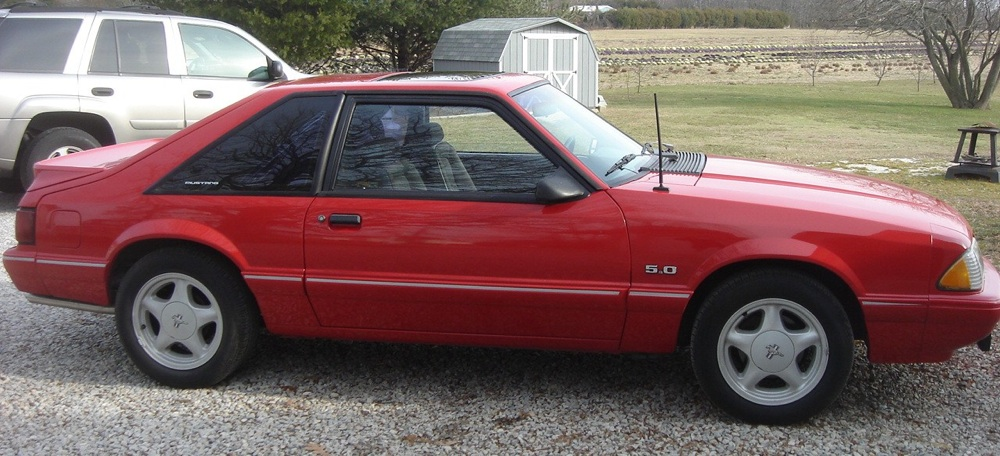 Vibrant Red 1992 Ford Mustang Hatchback  MustangAttitudecom