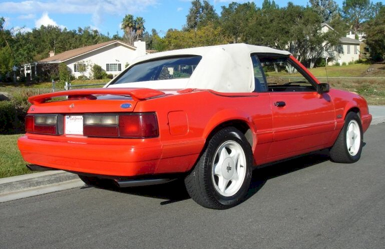 Vibrant Red 1992 Mustang LX Convertible