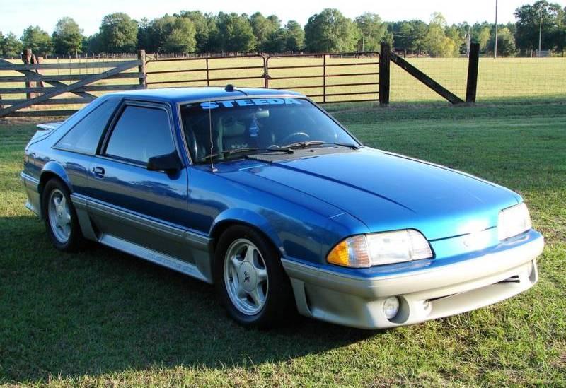 Ultra Blue 92 Steeda Supercharged Mustang GT Hatchback