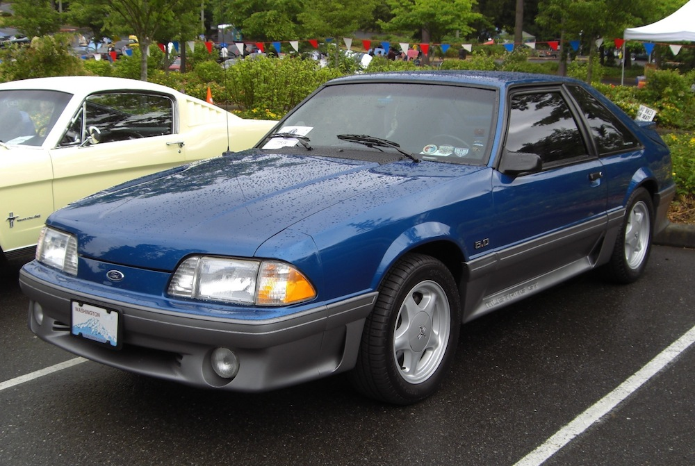 Ultra Blue 1992 Ford Mustang Gt Hatchback Mustangatude Photo Detail