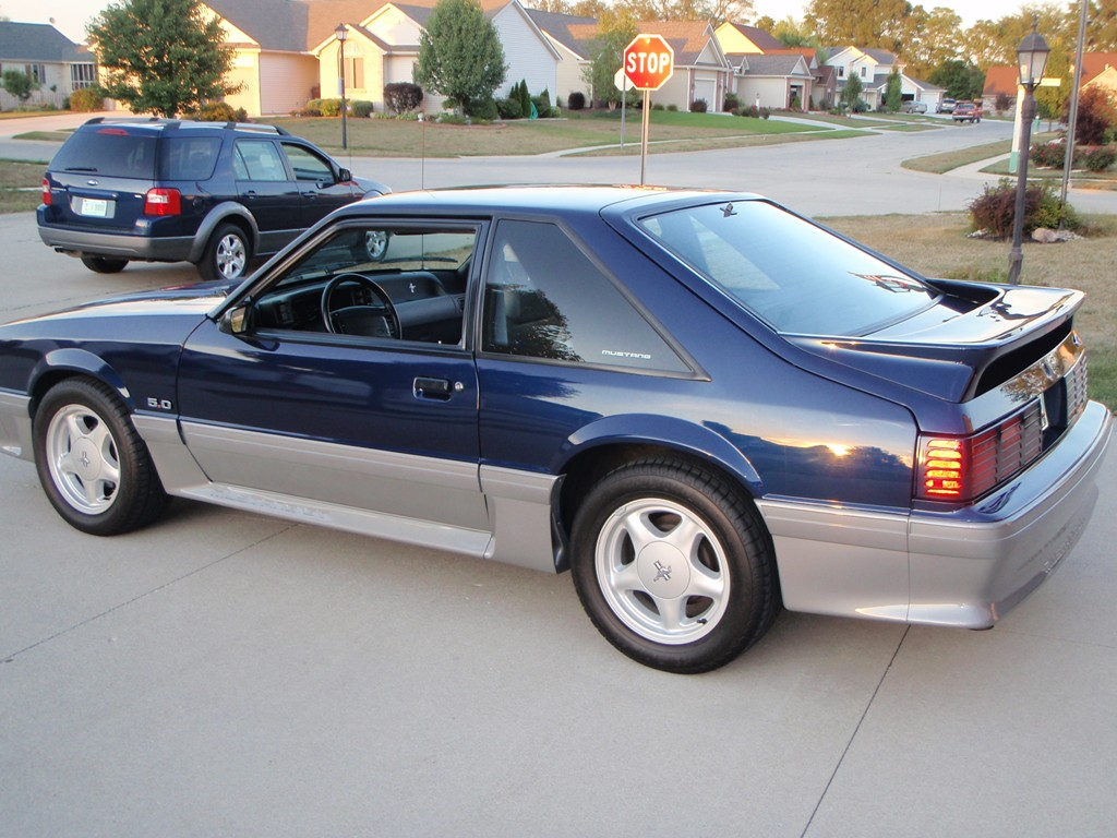 Royal blue 1993 mustang gt hatchback