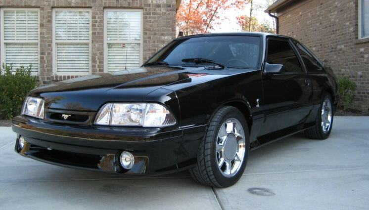 black 1993 ford mustang svt cobra hatchback photo detail. Black Bedroom Furniture Sets. Home Design Ideas