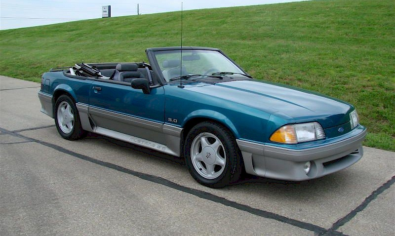 Reef Blue 1993 Ford Mustang Gt Convertible Mustangatude Photo Detail