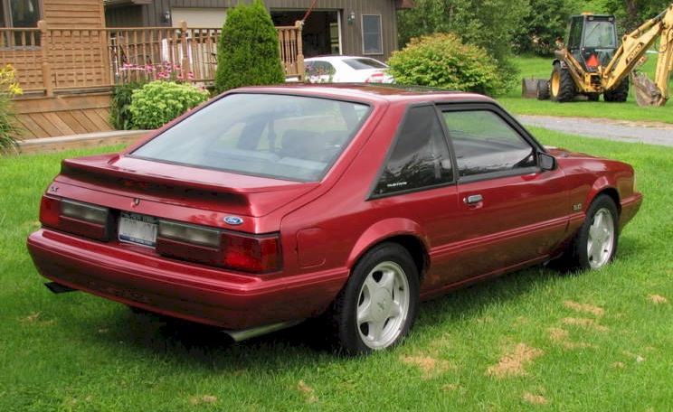 Electric Red 93 Mustang Lx Hatchback