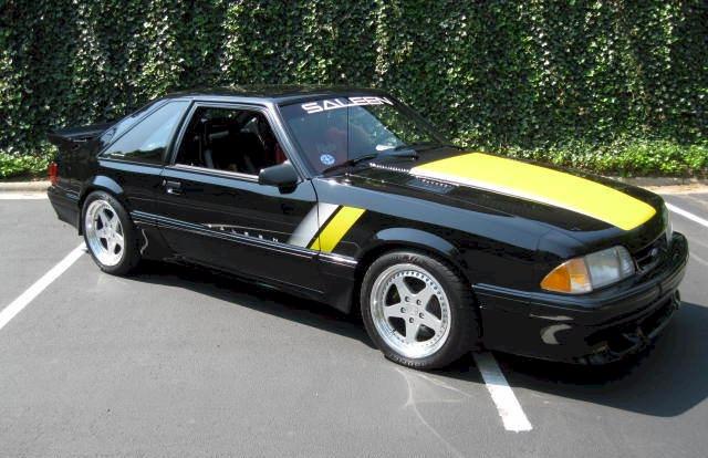 black 1993 saleen sa 10 ford mustang hatchback photo detail. Black Bedroom Furniture Sets. Home Design Ideas