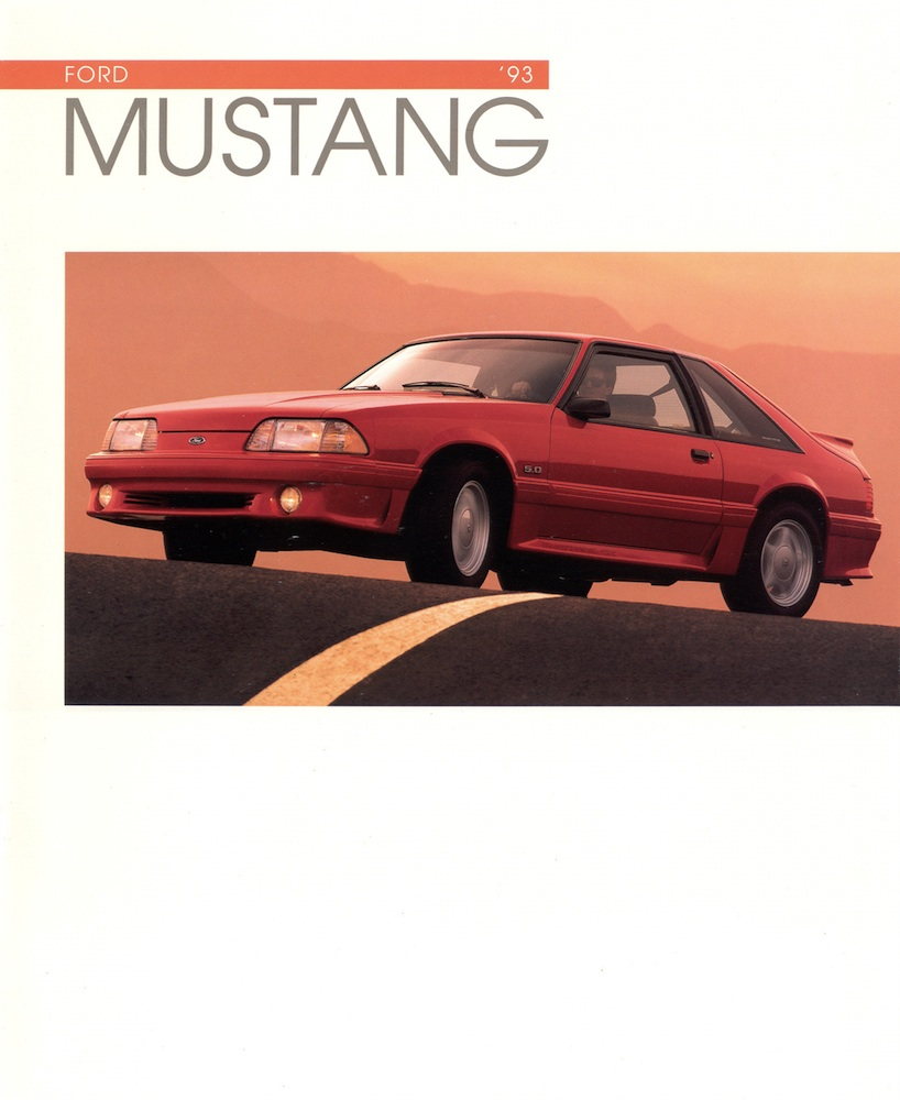 1993 Ford Mustang Sales Brochure