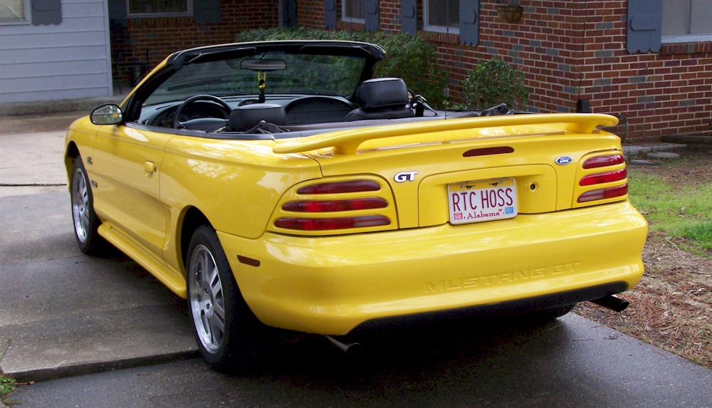 chrome canary yellow 1994 ford mustang gt convertible. Black Bedroom Furniture Sets. Home Design Ideas