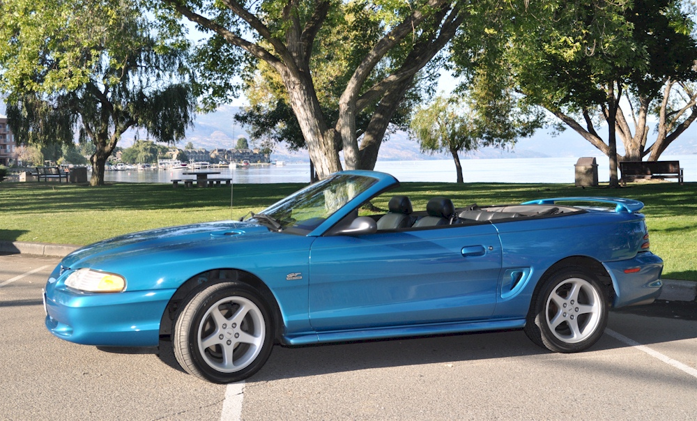 teal blue 1994 ford mustang gt convertible. Black Bedroom Furniture Sets. Home Design Ideas