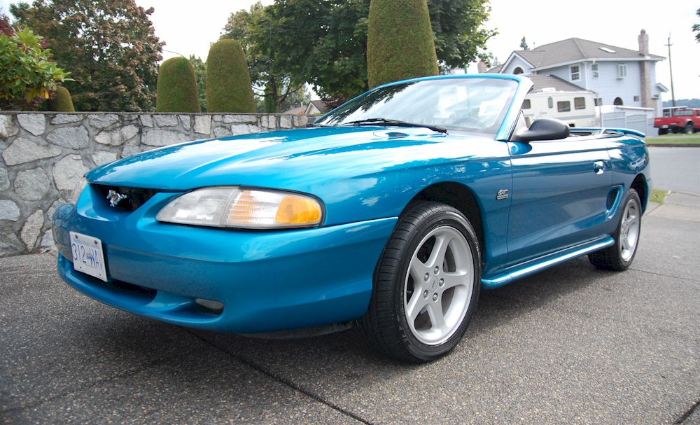 teal blue 1994 ford mustang gt convertible photo detail. Black Bedroom Furniture Sets. Home Design Ideas