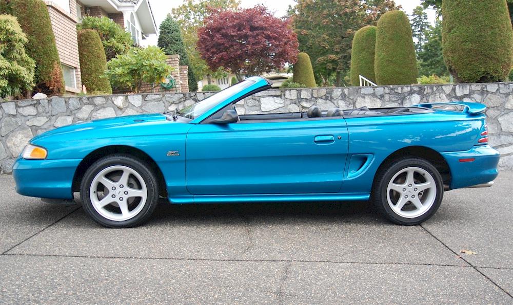 Teal Blue 1994 Ford Mustang Gt Convertible Mustangattitude Com