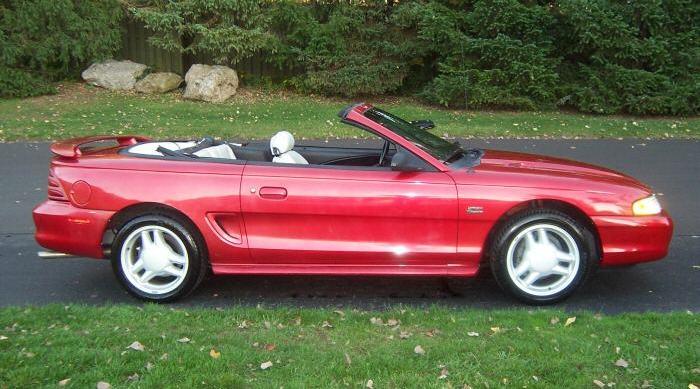laser red 1994 ford mustang gt convertible. Black Bedroom Furniture Sets. Home Design Ideas