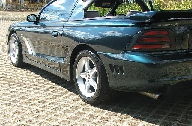 Deep Forest Green 1994 Saleen  Mustang GT Convertible