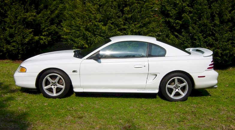Crystal White 1994 Mustang GT Coupe