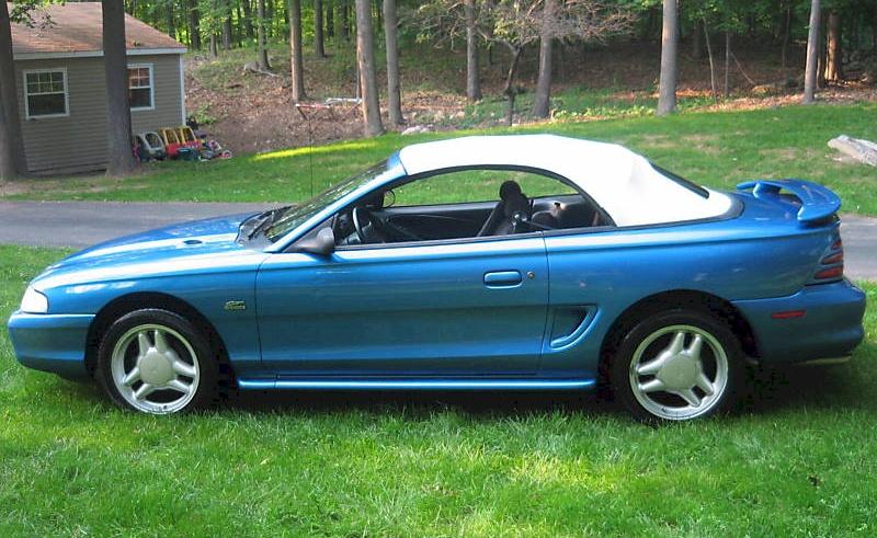 Bright Blue 1994 Ford Mustang Gt Convertible Mustangattitude Com
