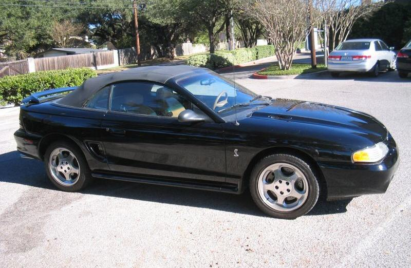 black 1995 ford mustang svt cobra convertible photo detail. Black Bedroom Furniture Sets. Home Design Ideas