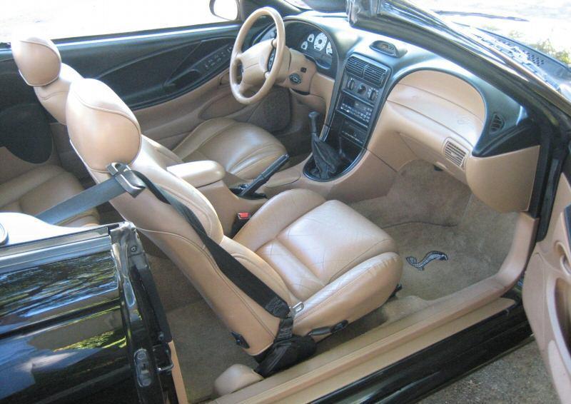 Black 1995 Ford Mustang Svt Cobra Convertible