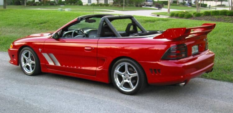 laser red 1995 saleen s351 ford mustang convertible. Black Bedroom Furniture Sets. Home Design Ideas