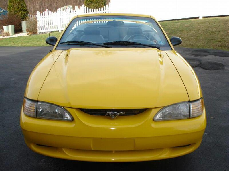 Canary Yellow 1995 Ford Mustang Gt Convertible