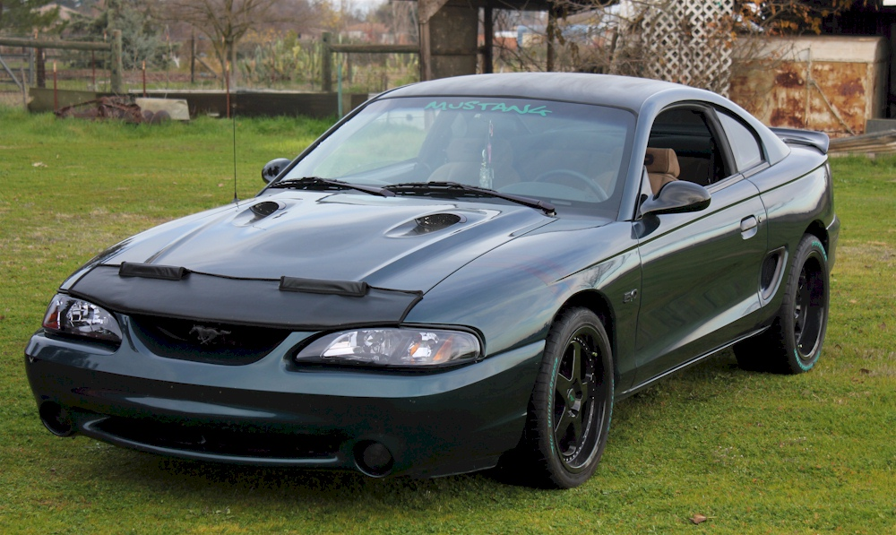 Deep Forest Green 1995 Mustang GTS