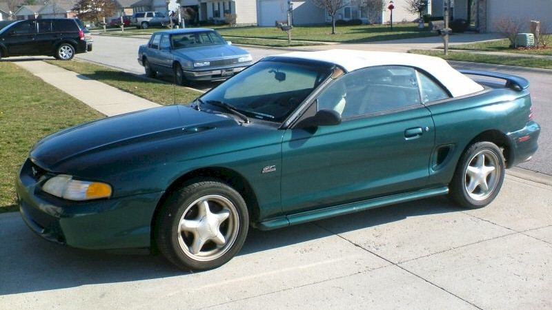 deep forest green 1995 ford mustang gt convertible