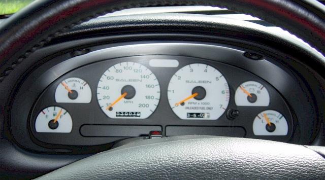 Mustang 1995 Saleen 1995 Saleen S351 Instruments