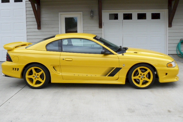 Mustang 1995 Saleen Canary Yellow 1995 Saleen S351