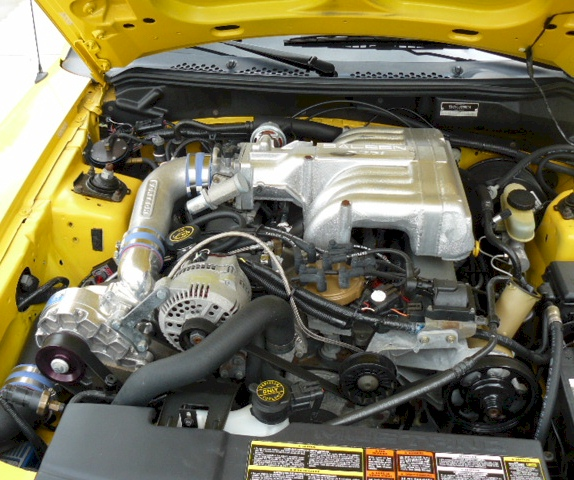 Supercharged Mustang Yellow: Canary Yellow 1995 Saleen Ford Mustang Coupe