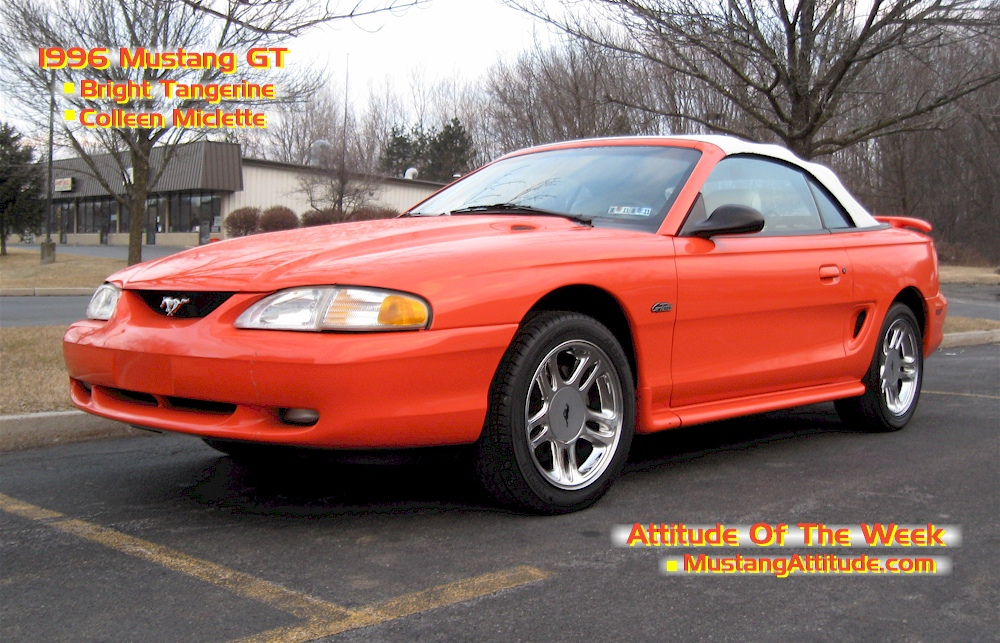 Bright Tangerine 1996 Mustang GT Convertbile