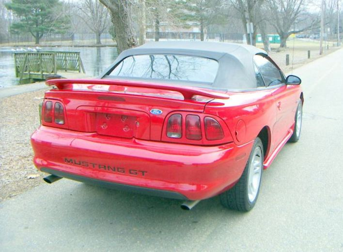 Rio Red 1996 Mustang GT Convertible
