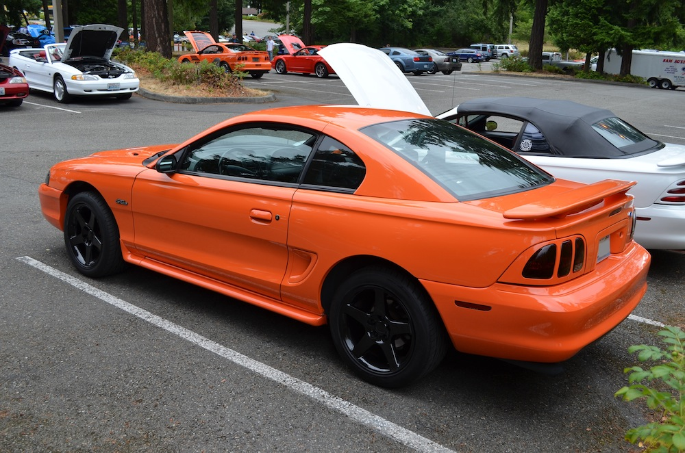 Bright Tangerine 1996 Ford Mustang GT Coupe  MustangAttitudecom