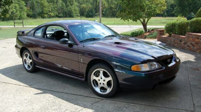 Mystic Purple Green 1996 Ford Mustang Svt Cobra Coupe
