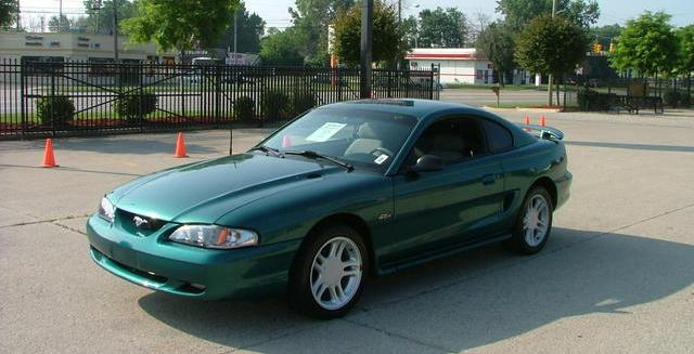 Deep Forest Green 96 Mustang GT Coupe