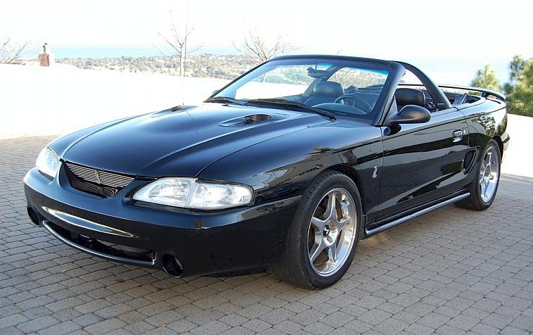 Black 1996 Cobra Convertible