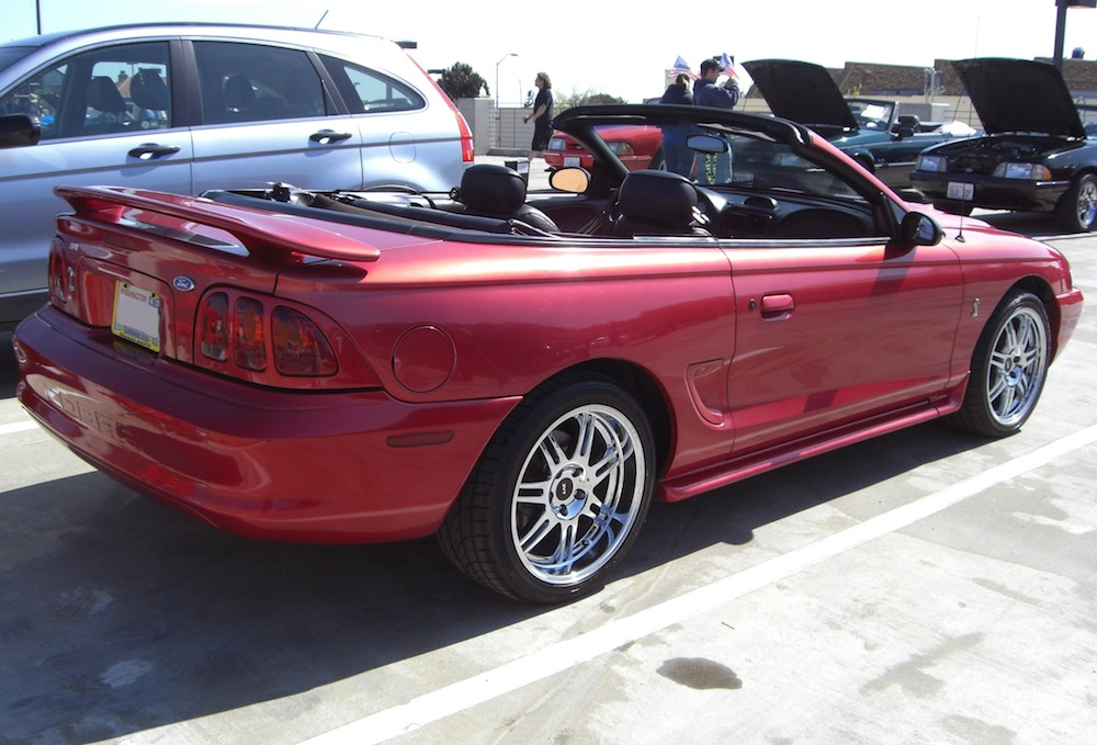 Laser Red 96 Mustang Cobra Convertible