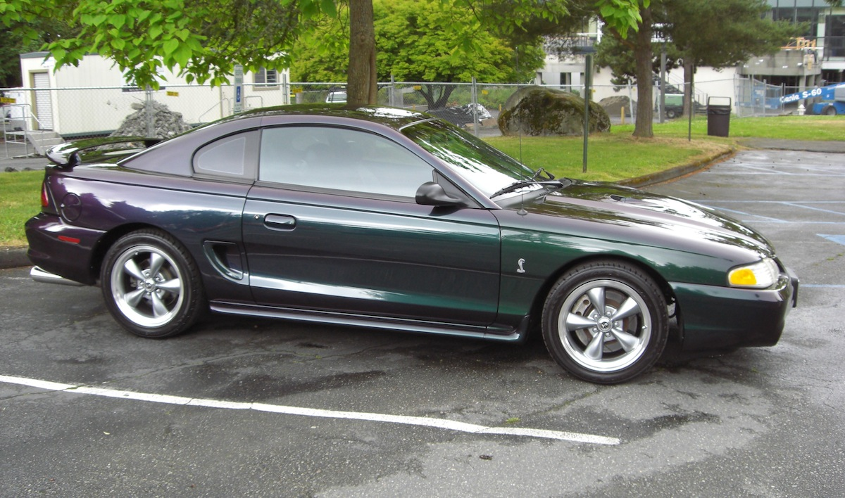 All Types 1996 mustang : Mystic Purple Blue Green 1996 Ford Mustang SVT Cobra Coupe ...
