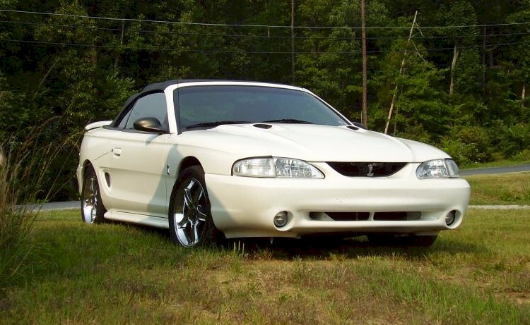Crystal White 1997 Cobra Convertible