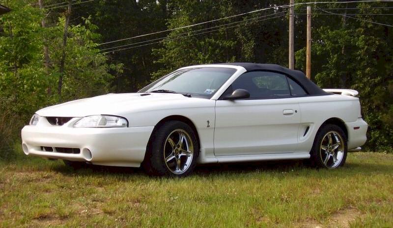 Crystal White 1997 Cobra Convertible