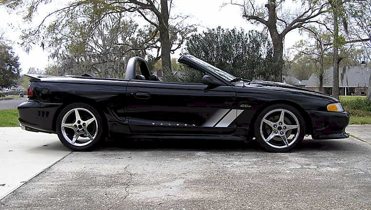 black 1997 saleen s281 ford mustang convertible. Black Bedroom Furniture Sets. Home Design Ideas