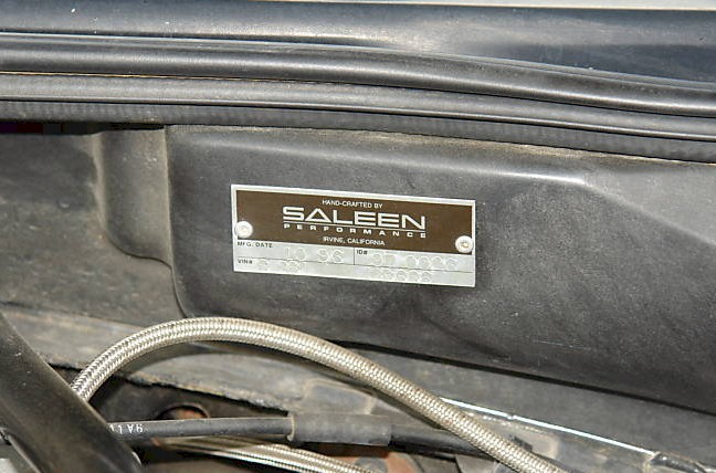 Saleen Engine ID Tag