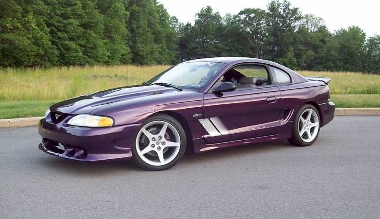 deep violet purple 1997 saleen s281 ford mustang coupe. Black Bedroom Furniture Sets. Home Design Ideas