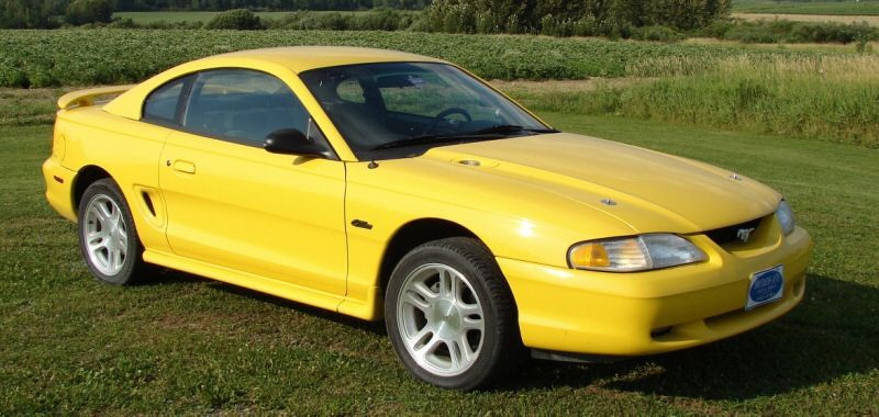 1998 Chrome Yellow Mustang Gt Coupe With The X Engine Code A 225hp 281ci 4 6 Liter Electronic Fuel Injected Single Overhead Cam V8