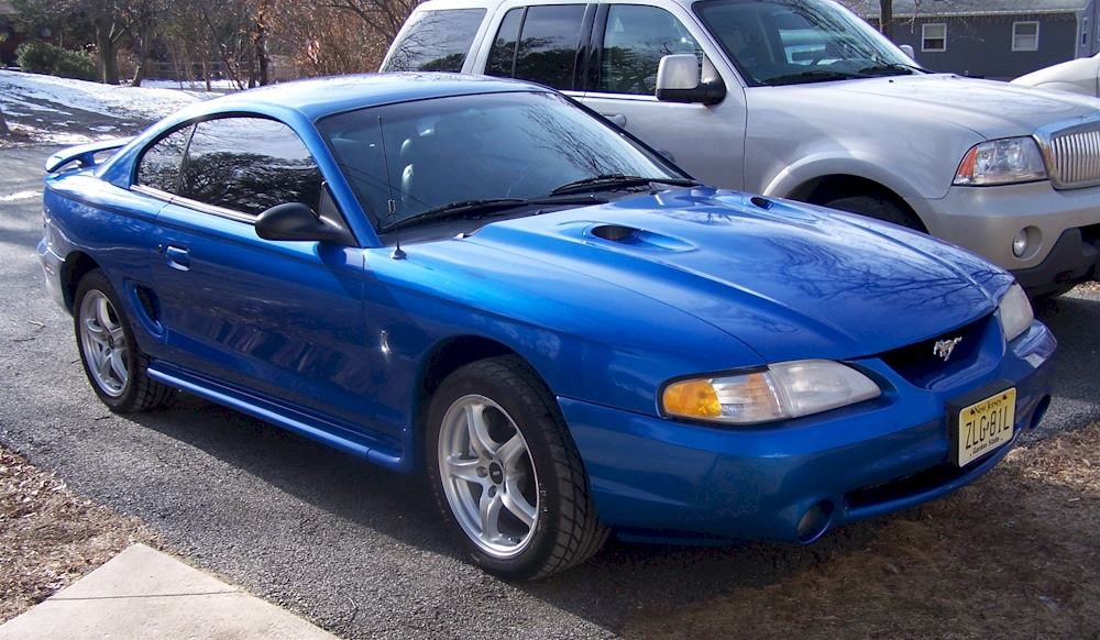 Bright Atlantic Blue 1998 Ford Mustang Svt Cobra Coupe