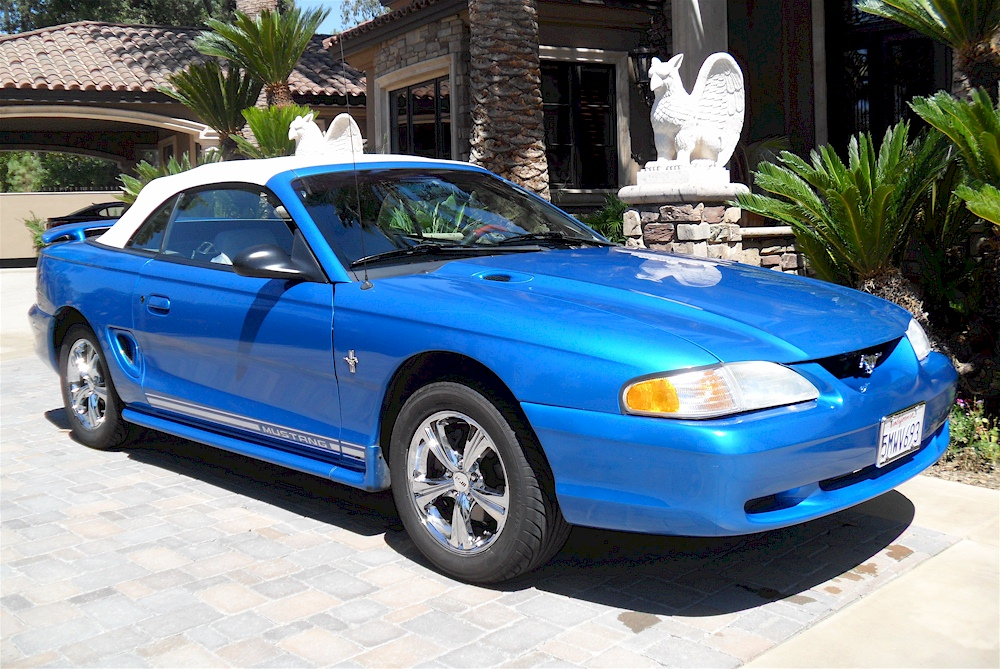 Bright Atlantic Blue 1998 Mustang Convertible